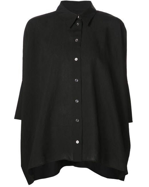 Half Sleeve Loose Shirt MM6 by Maison Margiela                                                                                                              чёрный цвет
