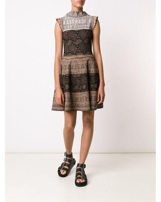 Платье А-Силуэта Alexander McQueen                                                                                                              коричневый цвет
