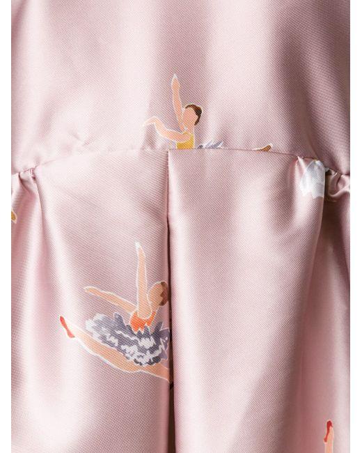 Вечернее Платье С Принтом Балерин Rochas                                                                                                              розовый цвет