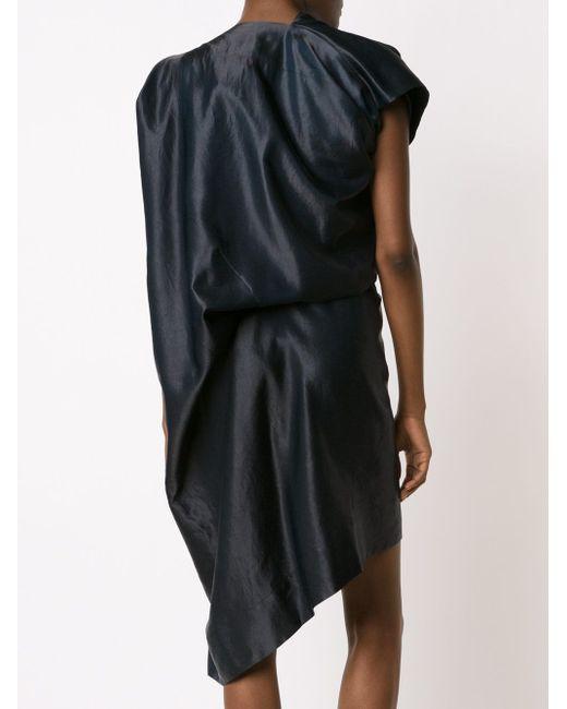 Драпированное Асимметричное Платье Vivienne Westwood Anglomania                                                                                                              синий цвет