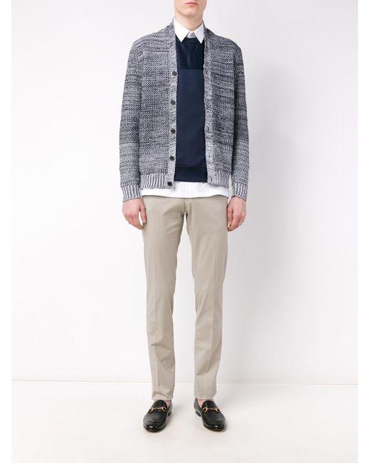 Shawl Collar Knitted Cardigan Stephan Schneider                                                                                                              синий цвет
