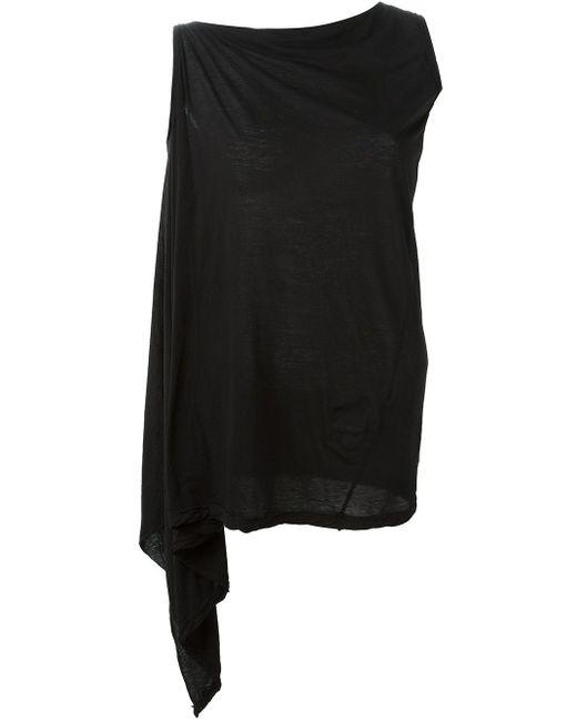 Асимметричный Топ RICK OWENS DRKSHDW                                                                                                              чёрный цвет