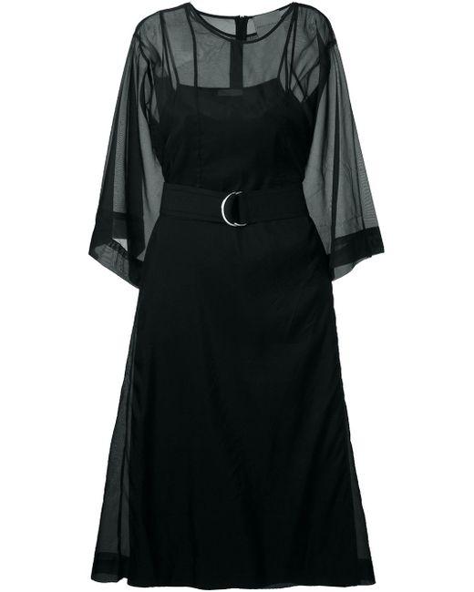 Платье Миди Erika Cavallini                                                                                                              чёрный цвет