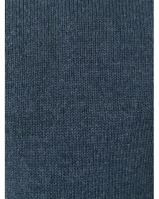 Свитер С Круглым Вырезом Roberto Collina                                                                                                              синий цвет