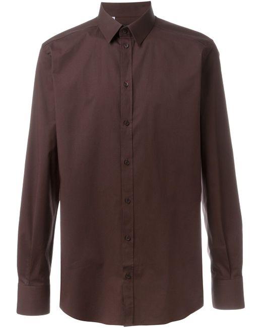 Классическая Рубашка Dolce & Gabbana                                                                                                              коричневый цвет