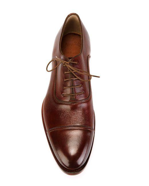 Stacked Heel Oxford Shoes Santoni                                                                                                              красный цвет