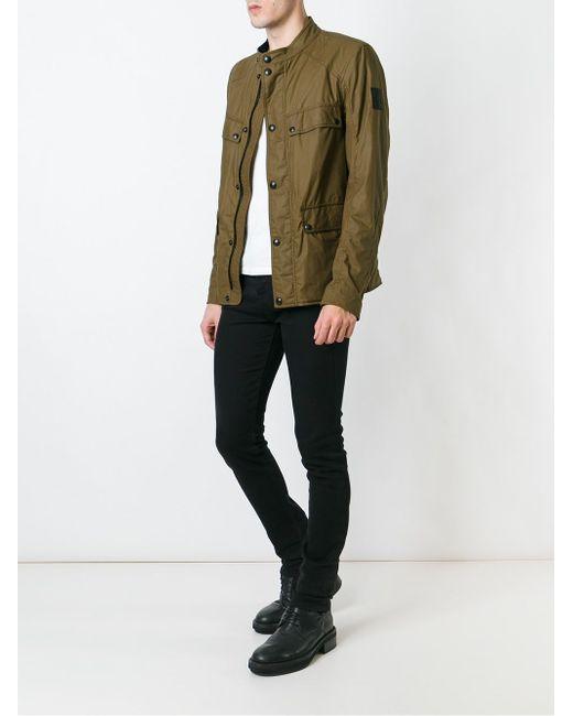 Легкая Куртка С Накладными Карманами Belstaff                                                                                                              зелёный цвет