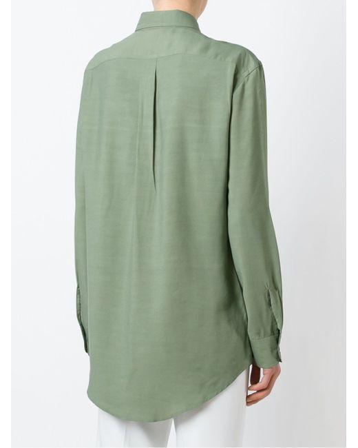 Side Pocket Shirt LEMAIRE                                                                                                              зелёный цвет
