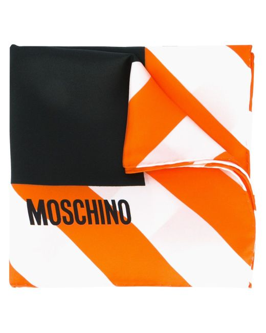 Платок С Принтом Clothed For Repairs Moschino                                                                                                              чёрный цвет