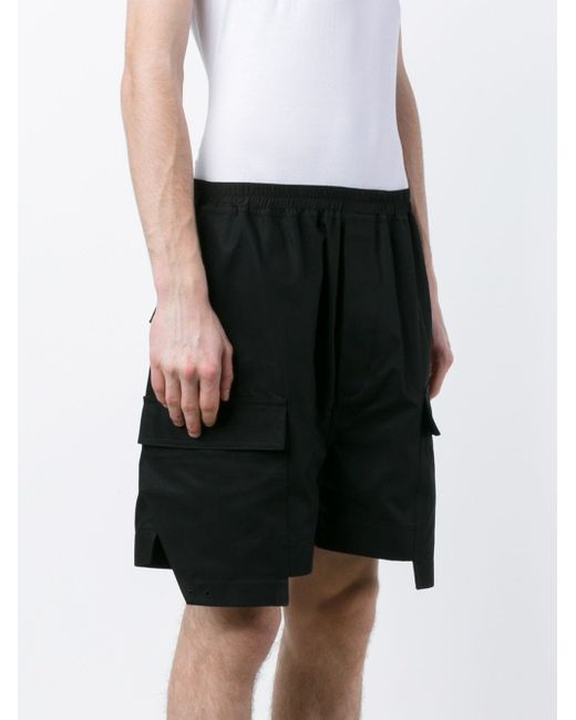 Cotton Cargo Shorts Rick Owens                                                                                                              чёрный цвет