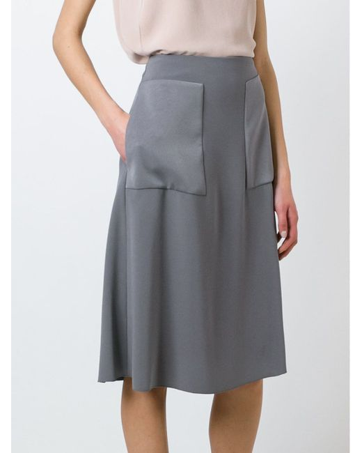 Oversized Pockets Skirt Joseph                                                                                                              серый цвет