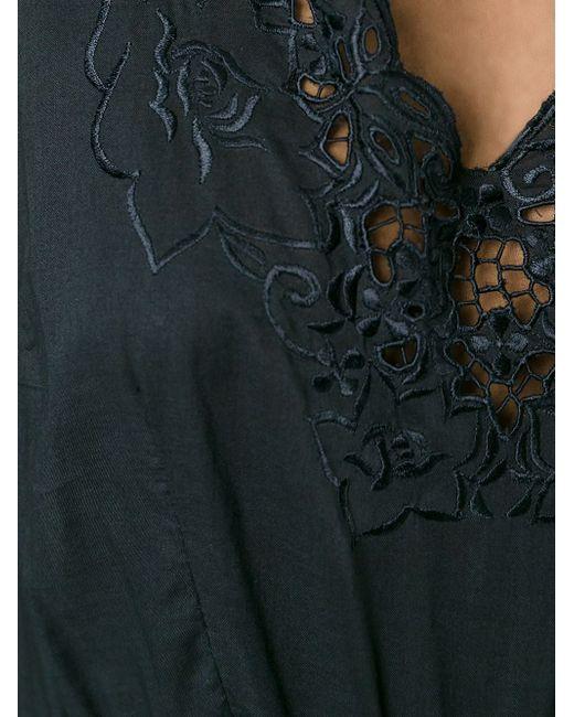 Платье С Вышивкой P.A.R.O.S.H.                                                                                                              чёрный цвет