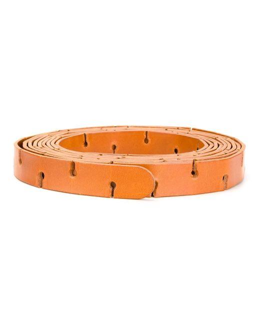 Distressed Belt MM6 by Maison Margiela                                                                                                              коричневый цвет