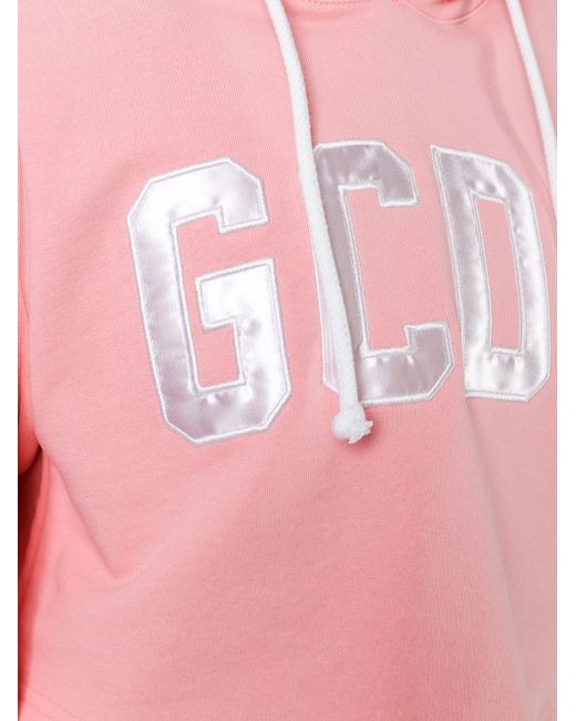 Logo Patch Cropped Hoodie Gcds                                                                                                              розовый цвет