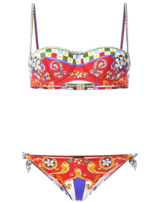 Carretto Siciliano Printed Bikini Dolce & Gabbana                                                                                                              None цвет