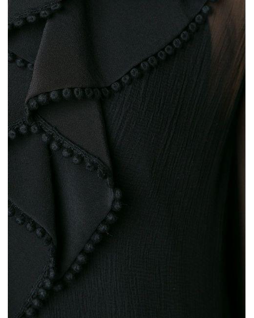 Топ С Прозрачными Рукавами Chloe                                                                                                              чёрный цвет