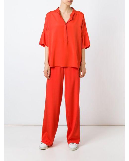 Sechiny Blouse P.A.R.O.S.H.                                                                                                              красный цвет
