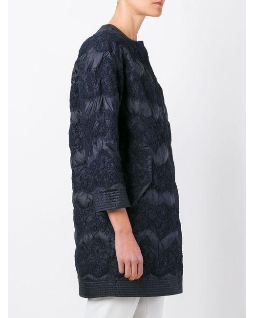 Пальто С Кружевной Отделкой Ermanno Scervino                                                                                                              синий цвет