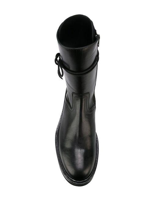 Lace-Up Boots Ann Demeulemeester                                                                                                              чёрный цвет