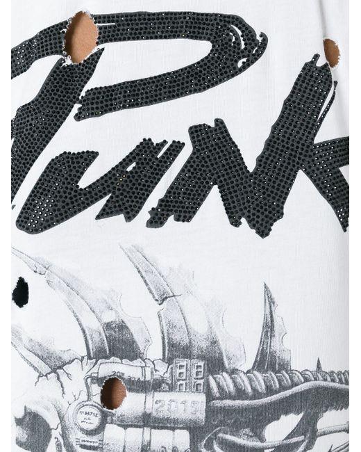 Майка Punk С Принтом Philipp Plein                                                                                                              белый цвет