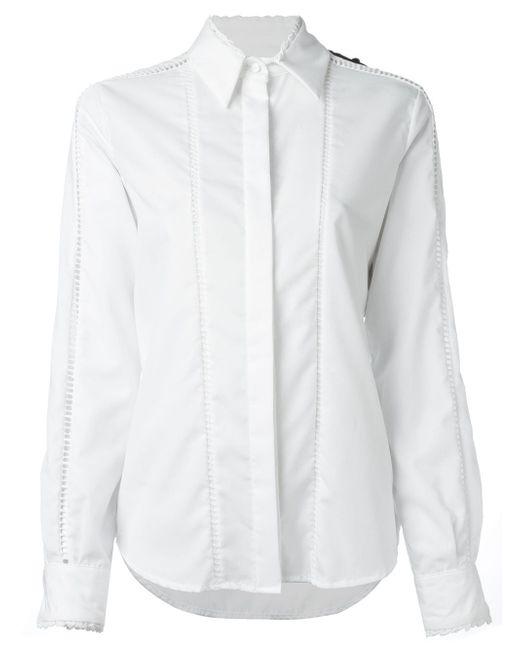 Рубашка Колор-Блок Preen By Thornton Bregazzi                                                                                                              белый цвет