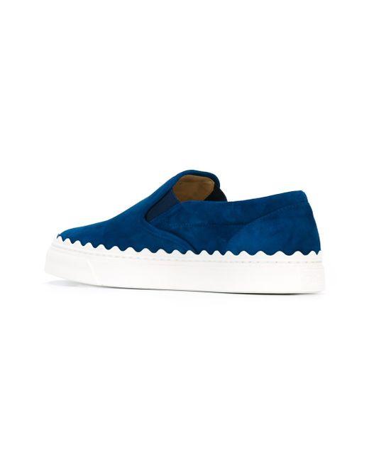 Ivy Slip-On Sneakers Chloe                                                                                                              синий цвет
