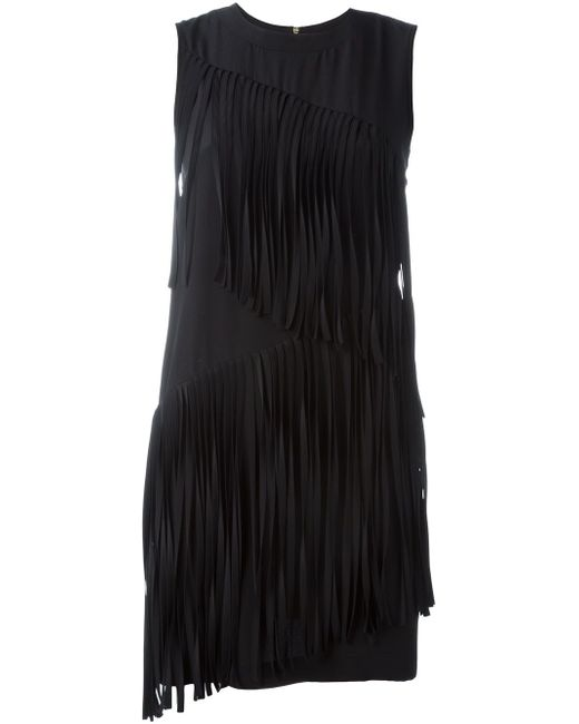 Sleeveless Fringed Dress Marco Bologna                                                                                                              чёрный цвет