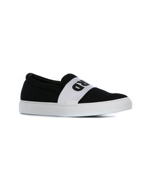 Hard Print Slip-On Sneakers Joshua Sanders                                                                                                              чёрный цвет