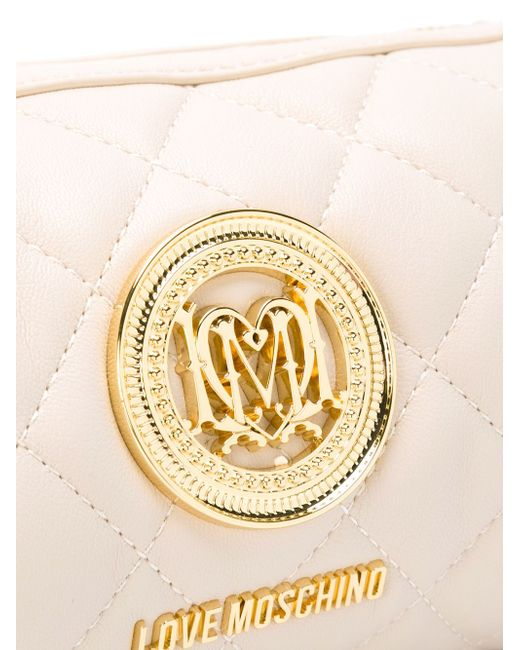 Quilted Barrel Cross Body Bag Love Moschino                                                                                                              Nude & Neutrals цвет