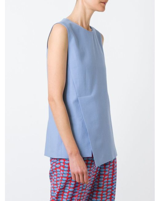 Asymmetric Top Stella Mccartney                                                                                                              синий цвет