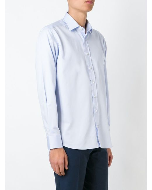 Классическая Рубашка Etro                                                                                                              синий цвет