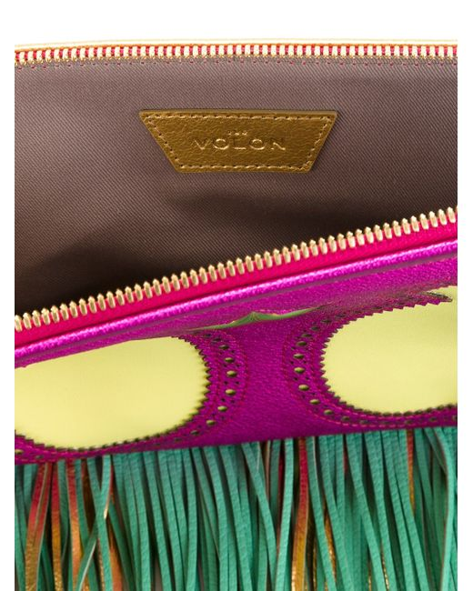 Fringed Clutch The Volon                                                                                                              розовый цвет