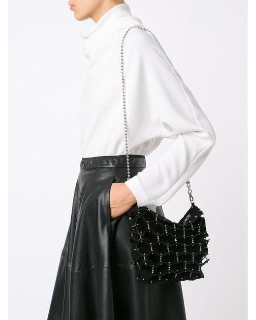 Studded Folded Shoulder Bag Comme Des Garcons                                                                                                              чёрный цвет