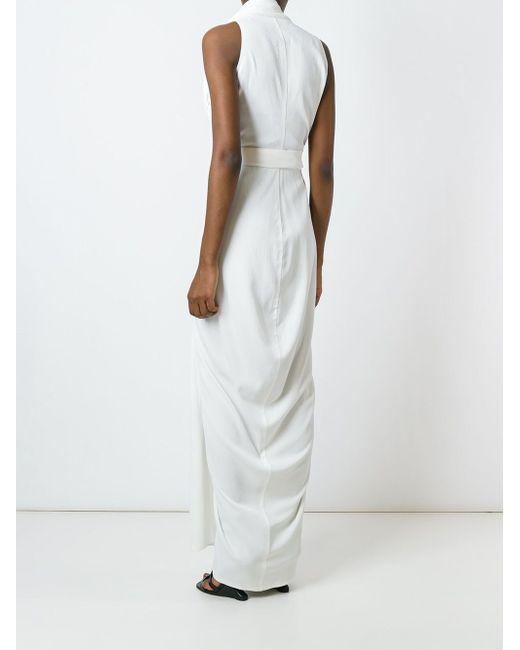 Draped Wrap Maxi Dress Rick Owens                                                                                                              белый цвет