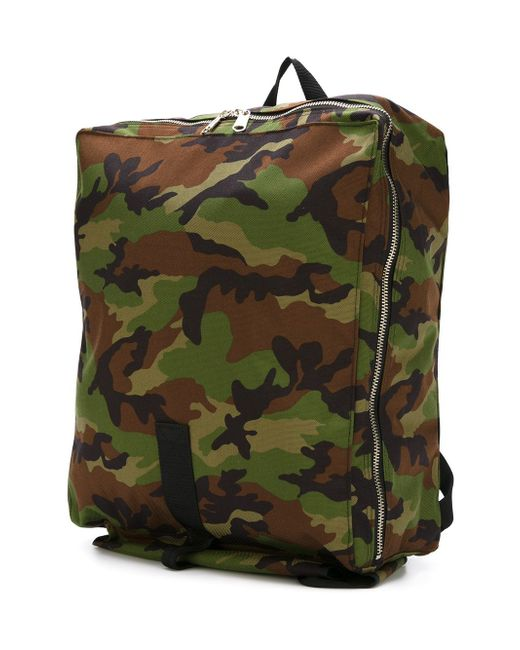 Camouflage Print Backpack Comme Des Garcons                                                                                                              зелёный цвет