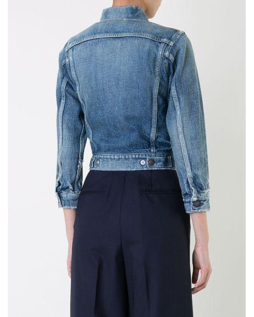Cropped Denim Jacket Fabiane Roux                                                                                                              синий цвет