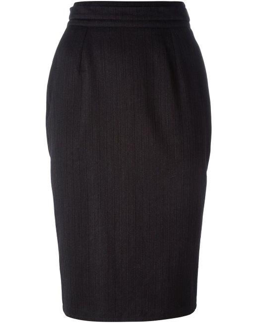Striped Pencil Skirt Dolce & Gabbana                                                                                                              серый цвет