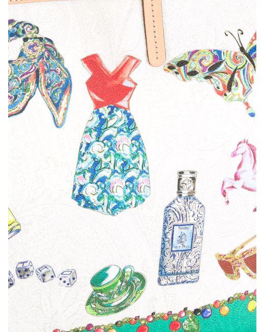 Print Tote Etro                                                                                                              многоцветный цвет