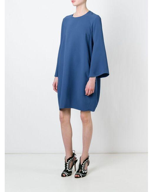 Короткое Платье-Кокон Gianluca Capannolo                                                                                                              синий цвет