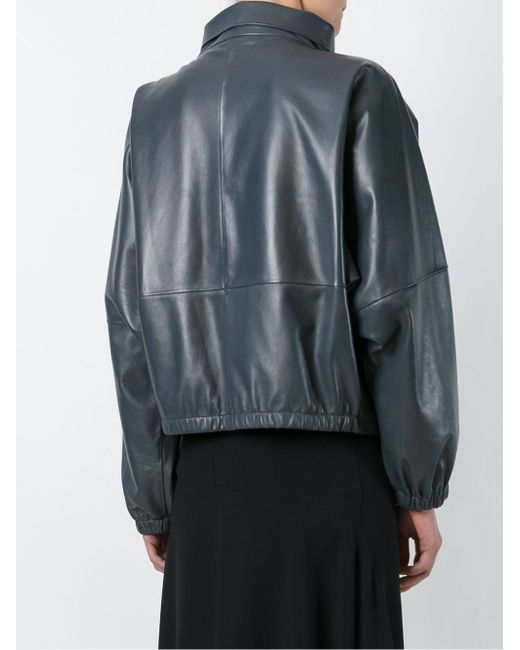 Buckled Leather Jacket J.W. Anderson                                                                                                              серый цвет