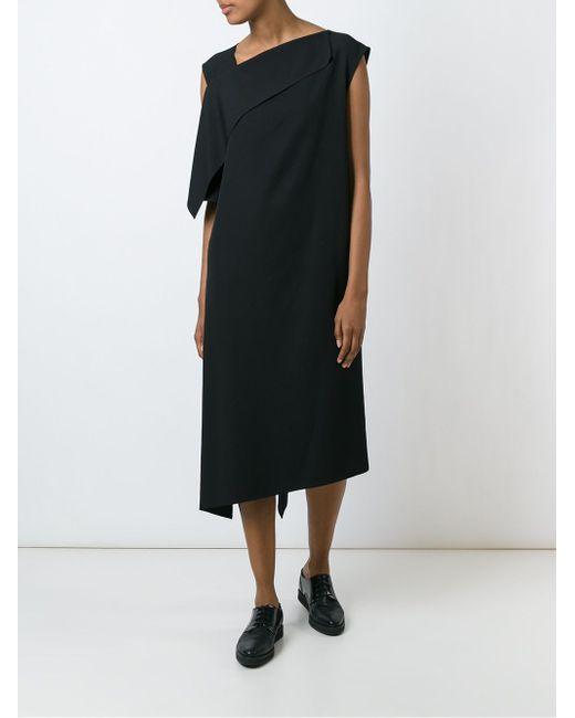 Asymmetric Shift Dress Yohji Yamamoto                                                                                                              чёрный цвет