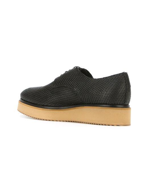 Contrasting Sole Lace-Up Shoes Raparo                                                                                                              чёрный цвет