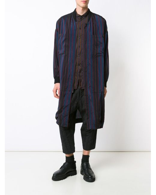 Striped Zip Coat UMA WANG                                                                                                              синий цвет