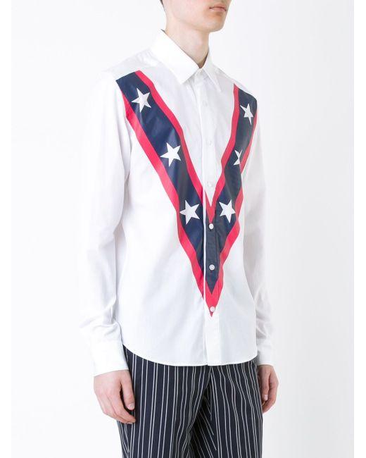 Front Geometric Print Shirt Yoshio Kubo                                                                                                              белый цвет
