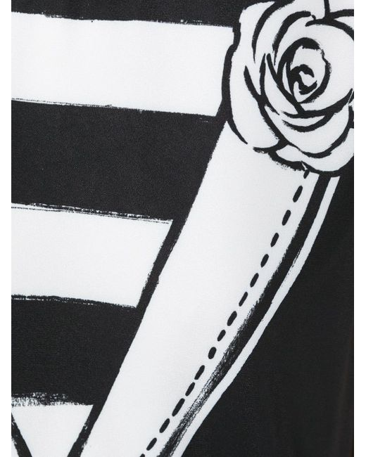 Двубортный Топ С Принтом BOUTIQUE MOSCHINO                                                                                                              чёрный цвет