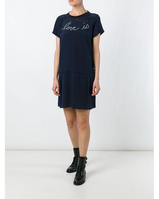 Rubica Dress Zadig & Voltaire                                                                                                              синий цвет