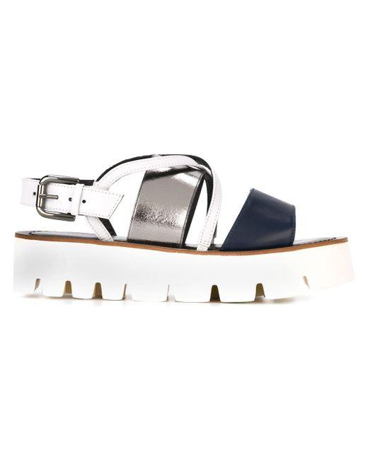 Flatform Sandals Pollini                                                                                                              синий цвет