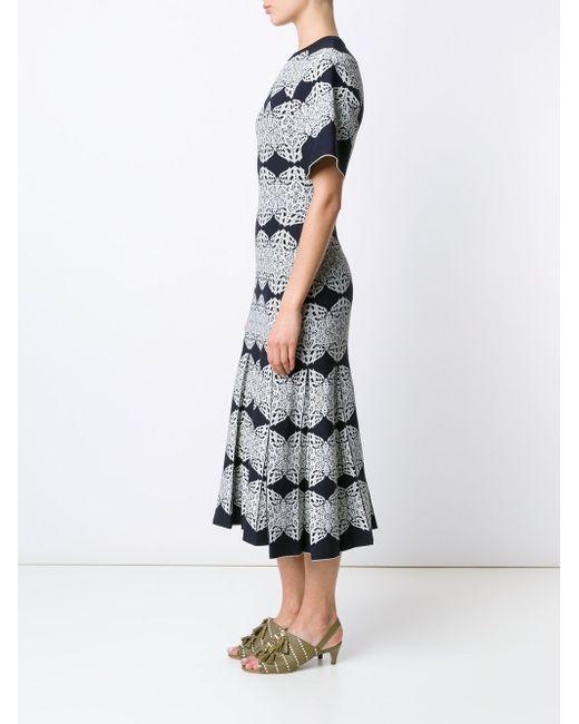 Трикотажное Платье С Узорами И Складками Derek Lam                                                                                                              чёрный цвет
