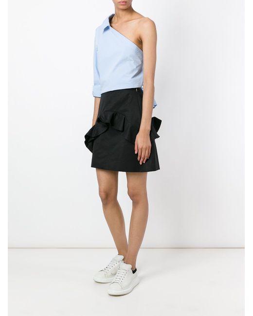 Ruffled Mini Skirt MSGM                                                                                                              чёрный цвет