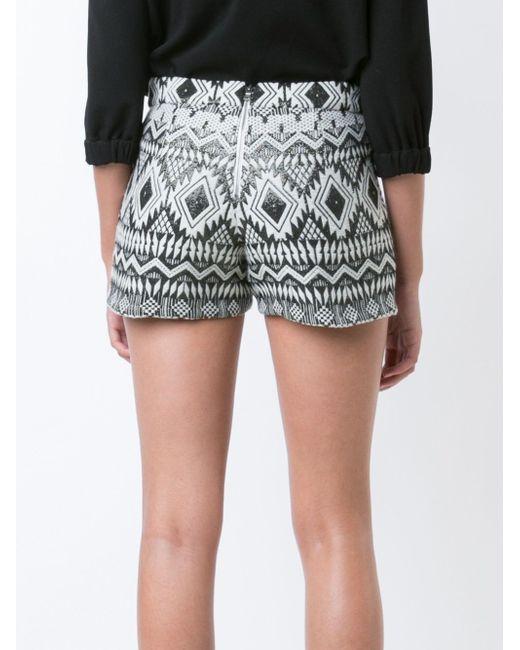 Aztec Patterned Shorts Alice + Olivia                                                                                                              белый цвет